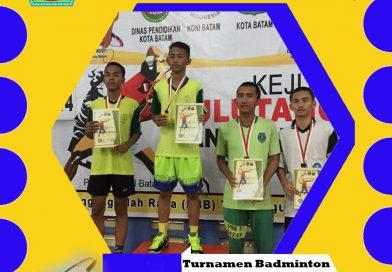 Turnament Badminton Antar Pelajar se-Kota Batam Tahun 2019