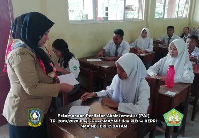 Pelaksanaan PAS SMA/SMK/SLB TP. 2019/2020 di SMA Negeri 17 Batam